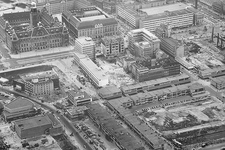 Lijnbaan en omgeving, 1955.