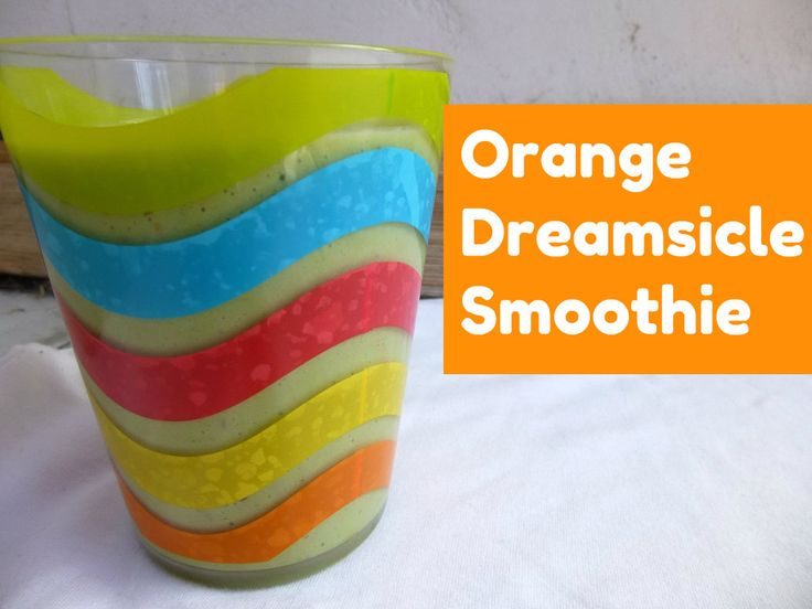 Green Thickies Orange Dreamsicle Smoothie