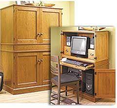 Hideaway Computer Cabinet Woodworking Plan