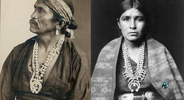 The Native American squash blossom necklace is a reflection of history, art and culture. Read More about the origin of this style.