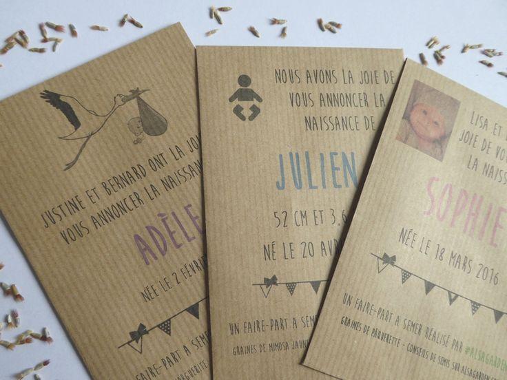 Faire-part de naissance à semer, écolo et original ! | Blog Jardin Alsagarden - le magazine des jardiniers curieux
