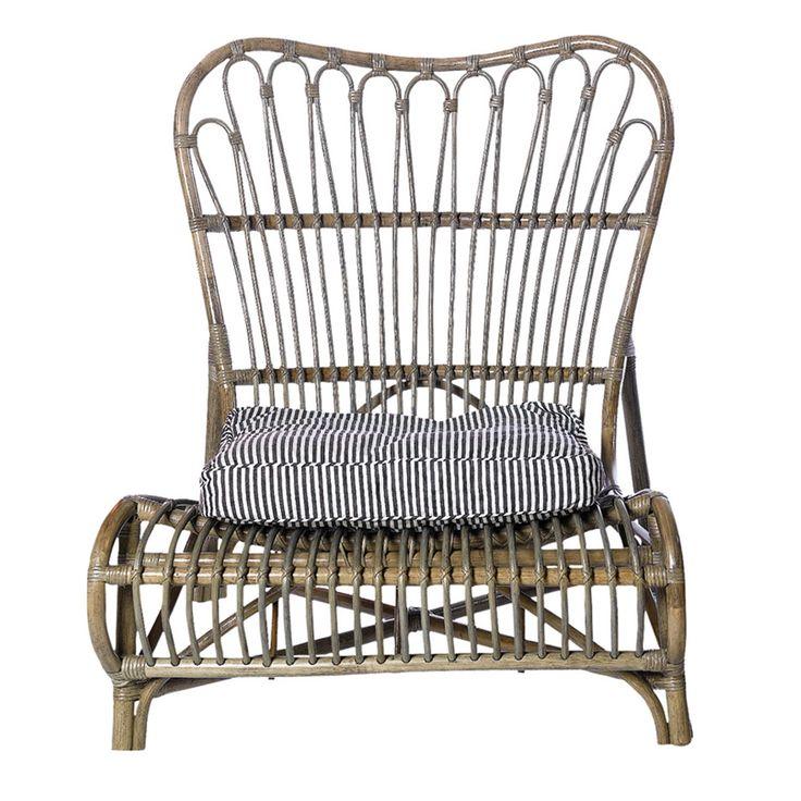 Bambu loungestol fra House Doctor.En elegant og komfortabel lounge stol laget av malt flettet....