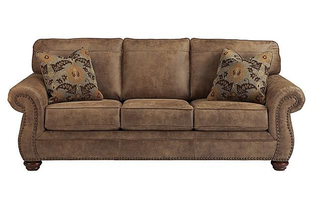 "Earth Larkinhurst Sofa View 2- width 89"" with matching recliner"