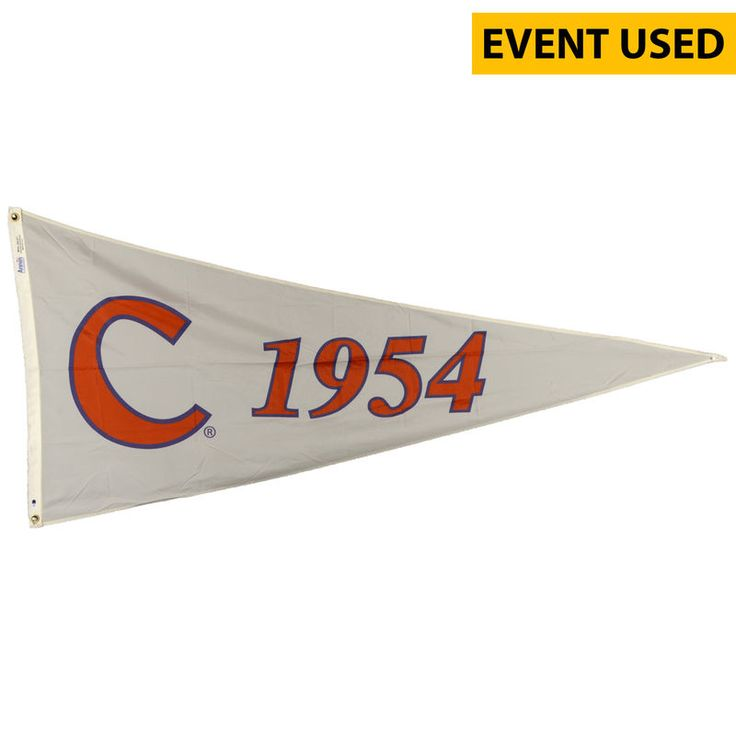 Clemson Tigers Fanatics Authentic Baseball Event-Used 1954 Pennant Season Flag