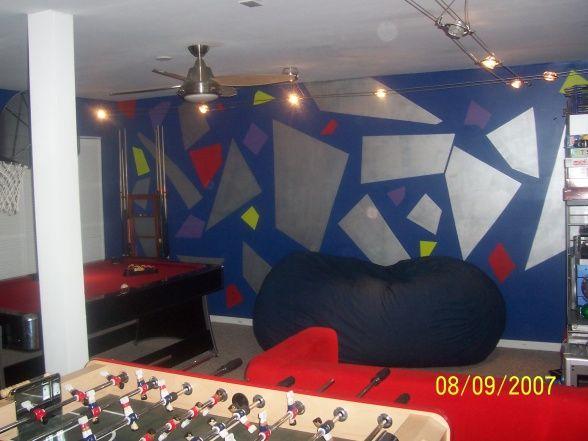Teens rec room garage designs decorating ideas hgtv for My room decoration games