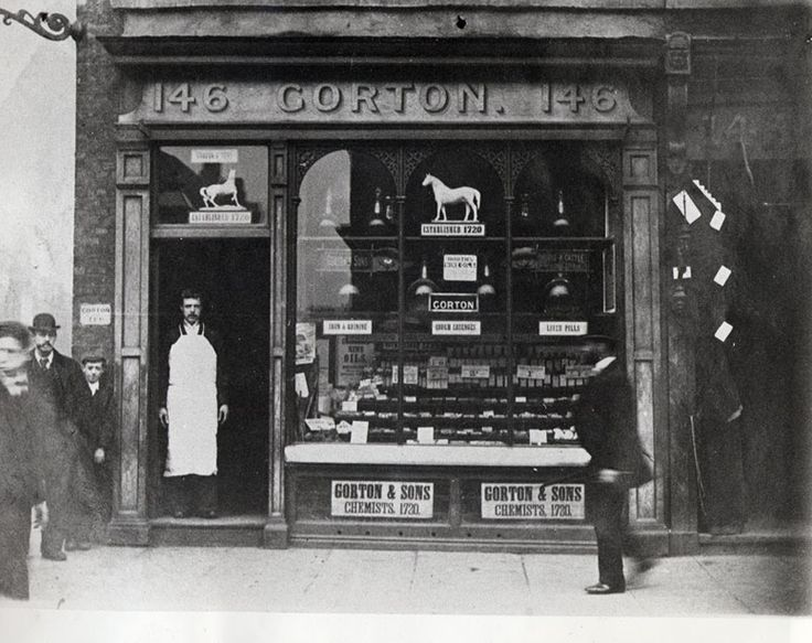 Mr Gorton's chemist, 146 Whitechapel Rd, London, 1900
