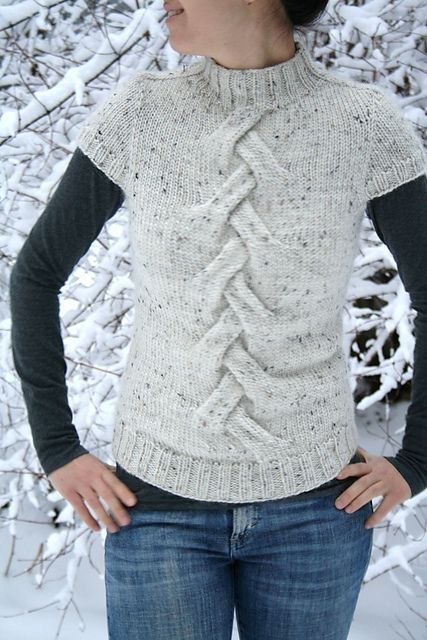 Ravelry: Yeti pull pattern by Svetlana Volkova - knit top down - read through other knitter's notes in project tab!