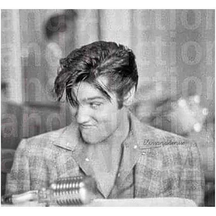 elvisanddenise:   Elvis, silly face  New to me... - Elvis never left