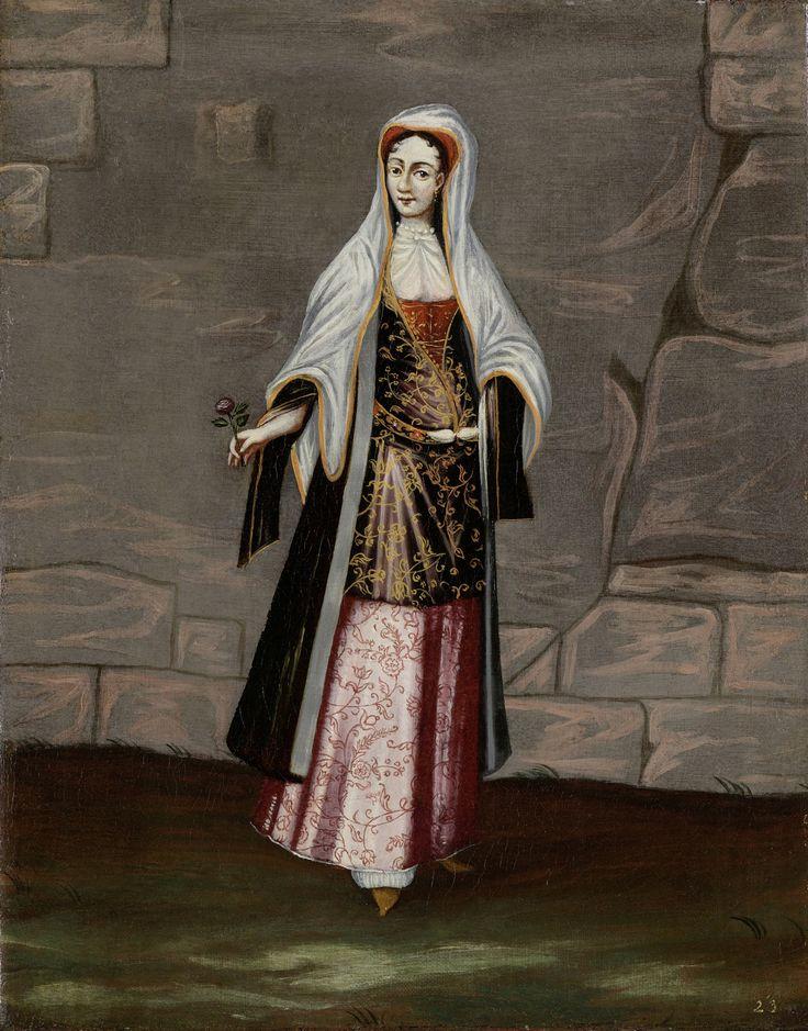 A widow from Mykonos by Jean Baptiste Vanmour, 18th c.