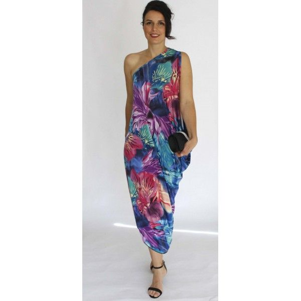 Waikatan One Shoulder Party Dress