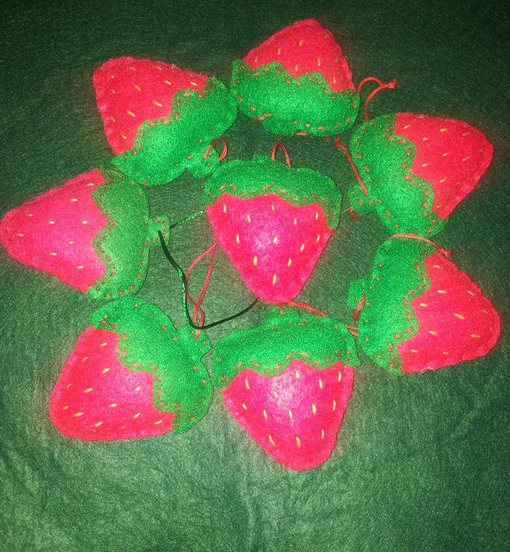 strawberry hanging decorations
