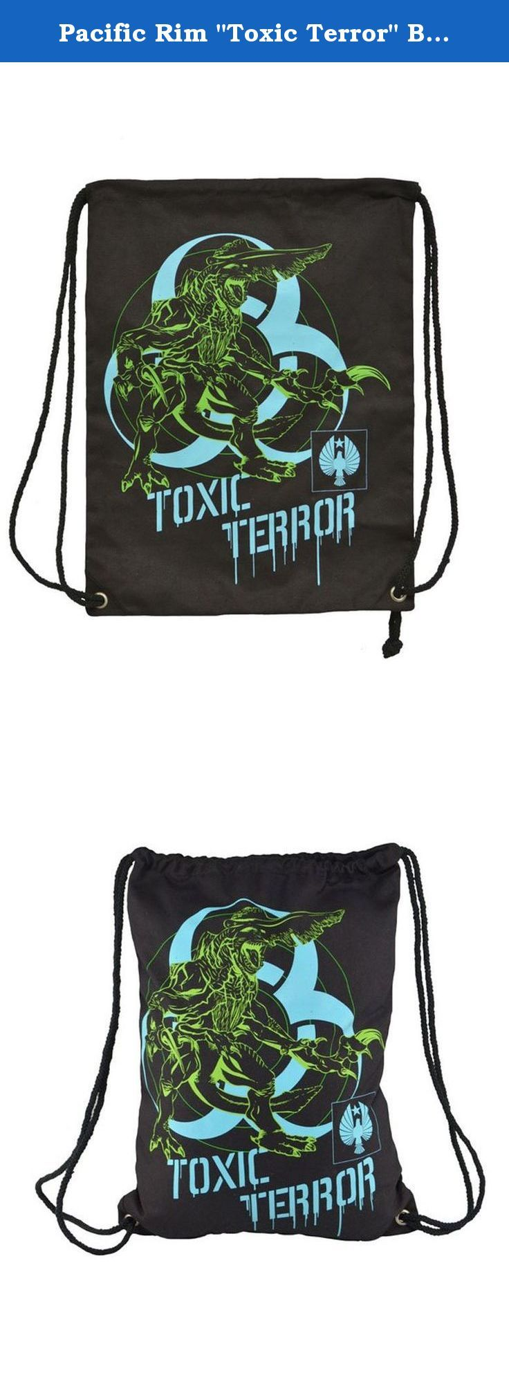 "Pacific Rim ""Toxic Terror"" Bag Sack. Pacific Rim Back Sack Toxic."