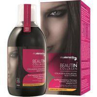 My Elements BEAUTIN Collagen 500ml  EAUTIN Collagen. Εξειδικευμένη Φόρμουλα Ομορφιάς με υδρολυμένο κολλαγόνο, υαλουρονικό οξύ, βιταμίνες Α, Β, Complex, C και ψευδάργυρο. Ενισχύει την υγεία και την ομορφιά της επιδερμίδας εκ των έσω, ενώ δυναμώνει τα μαλλιά και τα νύχια.