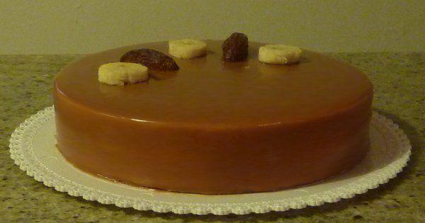 torta datteri banana rum caramello