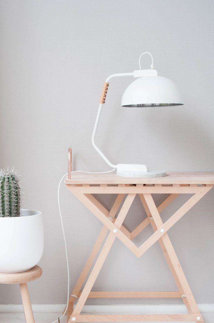 Desk wooden children s desk moulin roty furniture children s desk - New Marble Lamp Design On A Light Wodden Geometric Table