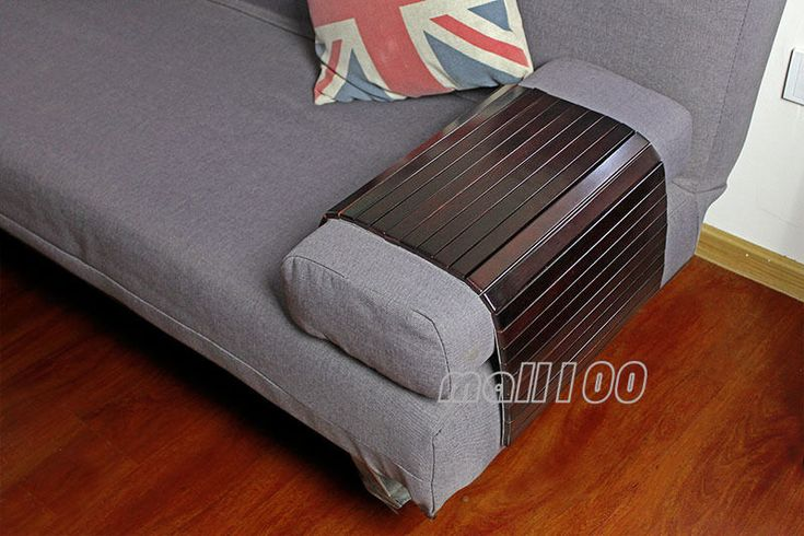 Flexible Wood Sofa Tray Wooden Tv Tray Coffee Table Lap Desk Armrest Table Couch