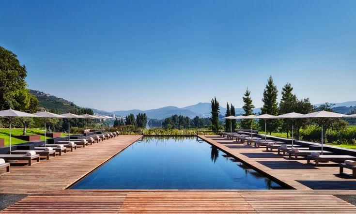 Hotel exterior swimming pool.