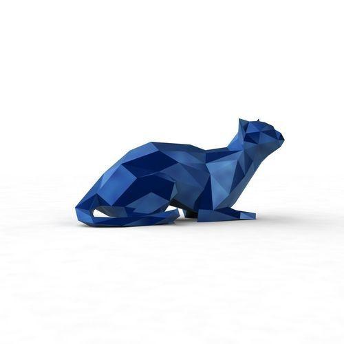 lowpoly kitty 4   3D Print Model