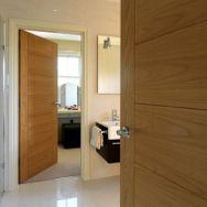 Oak panelled doors