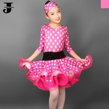 US $42.10 / piece 2015 New Latin Dance Dress For Girls Wave Point Children Ballroom Tango Dresses Kids Salsa Performance Dresses For Sale