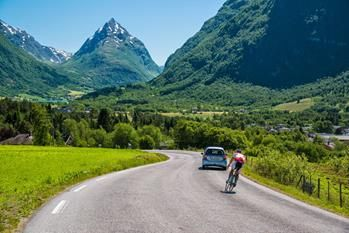 From the Nordfjord Race (Nordfjordrittet). Every year in June, along the Nordfjord. Mt. Eggenipa in the background. Copyright © Ronny Solheim/Nordfjordrittet