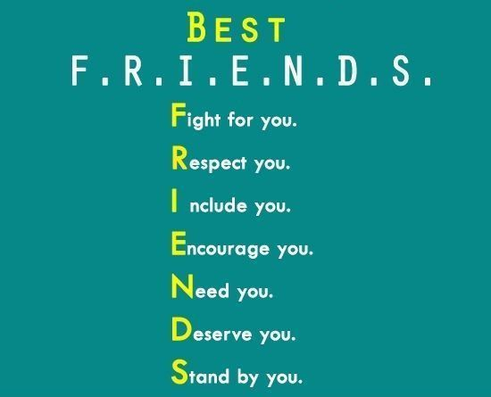 My best friends quote message