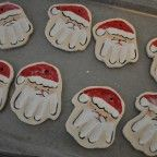 How to.... Hand Print Santa Ornaments