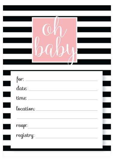 Printable Baby Shower Invitation Templates Free Invitations Craft Ideas