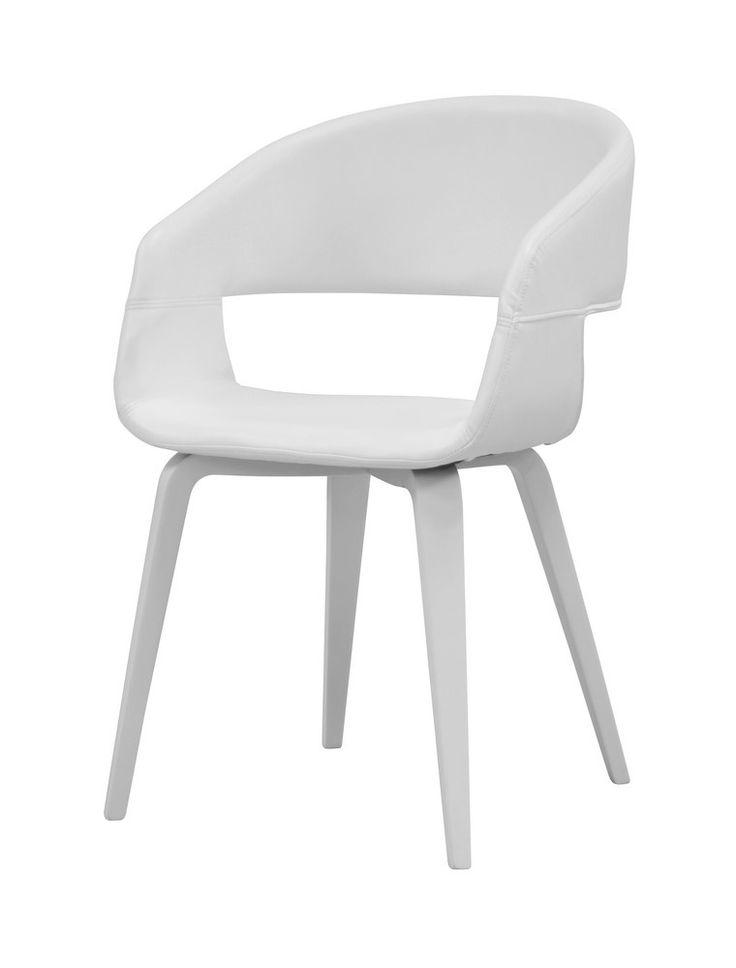 SHM Design - Eetkamerstoel Nova PU Wit/Wit