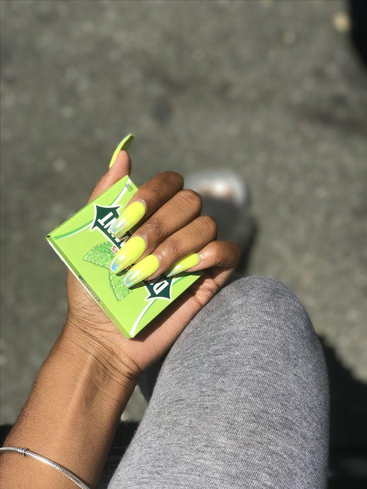 Pin on Long natural nails