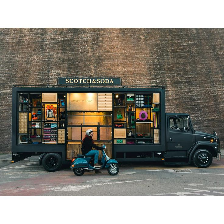 "SCOTCH AND SODA, Florence, Italy, ""Scotch on Wheels on it's way to Milan Fashion Week"", pinned by Ton van der Veer"