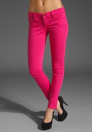 pink!A Mini-Saia Jeans, Free Ships, Colors Jeans, Revolvers Clothing, Pink Skinny, Pink Pants, Pink Topaz, Hot Pink, Pink Jeans