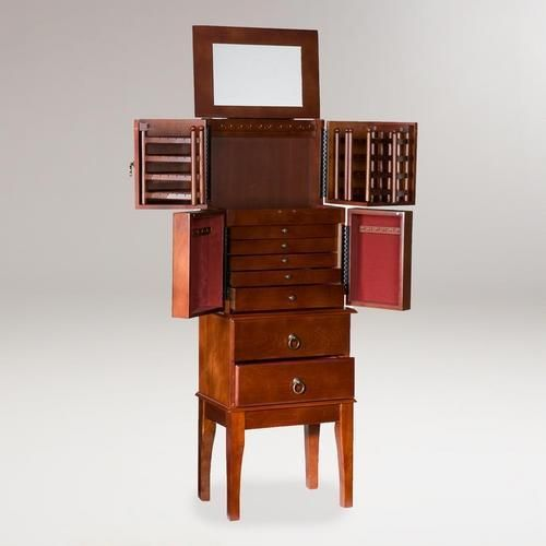 cherry jewelry armoire - Large Jewelry Armoire