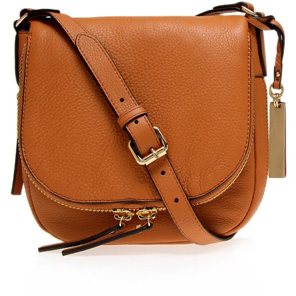 Bailey Crossbody1 Vince Camuto Tan (£125) found on Polyvore featuring bags, handbags, shoulder bags, purses, accessories, bolsos, tan, vince camuto purses, genuine leather handbags and orange leather purse