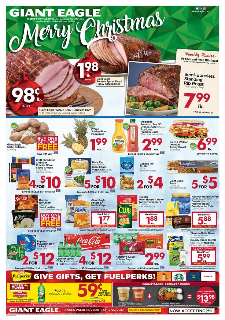Giant eagle weekly ad dec 2127 2017