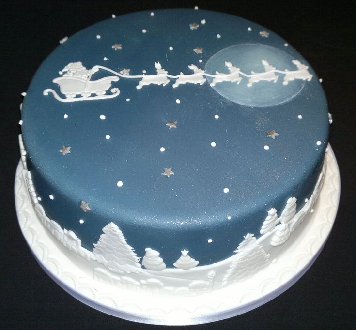 Scenery Christmas cake  for the love of CAKE