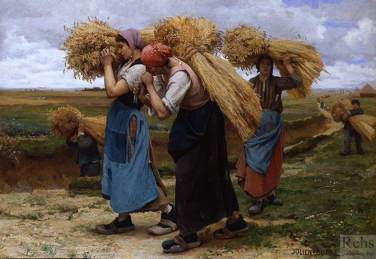 DUPRE, JULIEN (1851 - 1910) Glaneuses