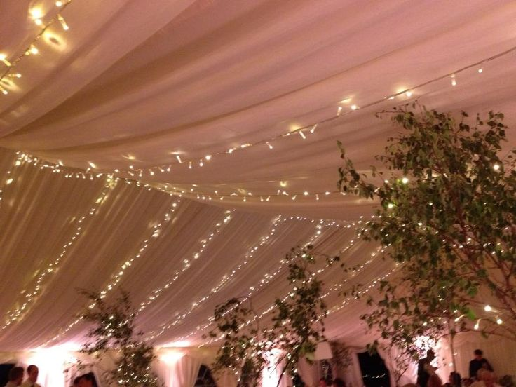 Fairylight Canopy In Marquee Draping Draping
