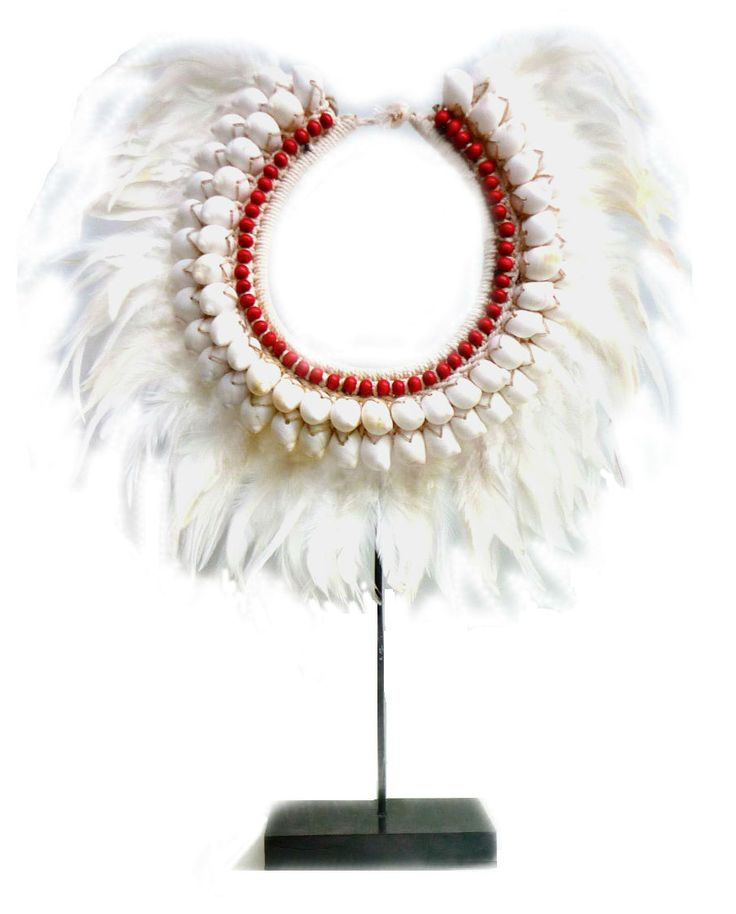 Balinese Cowrie Shell Tribal Necklace - Feathered Display - $60.00 www.shopvoidspaces.com