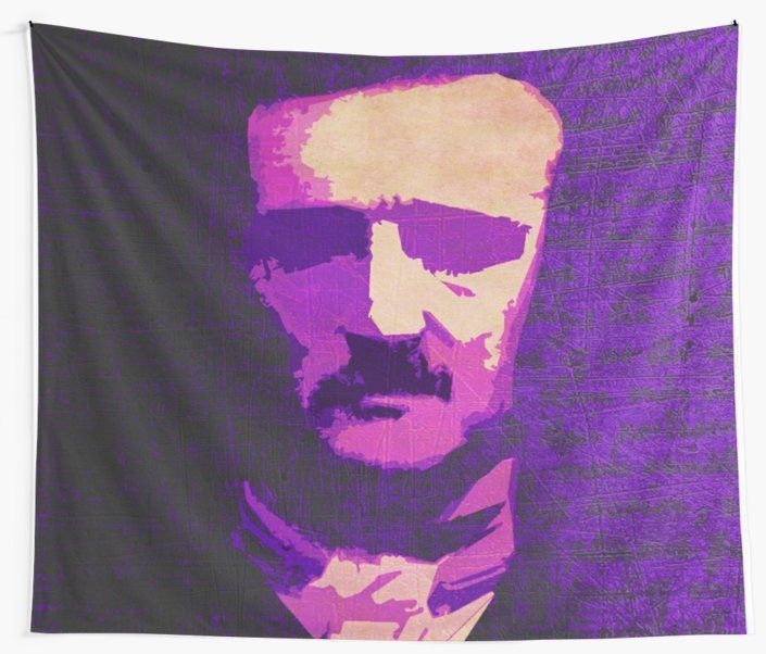 25% OFF Wall Art. Use code WALLS25.Poe Wall Tapestry.  #edgarallanpoe #victorian #hooror #victorianhorror #poe #poeportrait #walltapestry #tapestry #books #fiction #horrorfiction #book #bookworm #redbubble #art #popular #home #design #homedecor #homegifts #art #design #online #shopping #giftsforhim #family #style #fashion #bachelor #mancave #giftsforher #xmasgifts #christmasgifts #39 #deals #dorm #campus #fraternity #house #decor • Also buy this artwork on home decor, apparel, stickers, and…