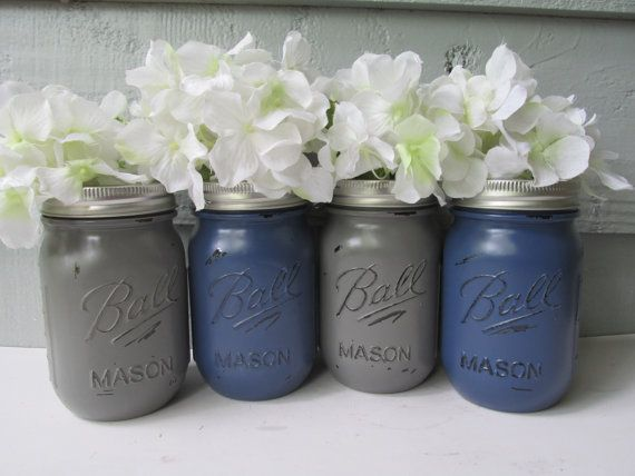 Hey, I found this really awesome Etsy listing at https://www.etsy.com/listing/186362881/painted-and-distressed-ball-mason-jars