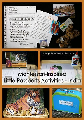 Montessori-inspired activities for multiple ages using the Little Passports India package along with activities that work well as extensions for a study of India