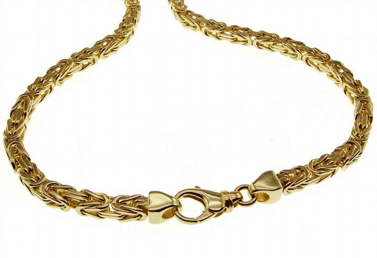 Echt Neu 50cm Königskette 585 Gelbgold 2,5mm Massiv Edel Halskette kaufen bei Hood.de - Material Gelbgold Farbe Gold