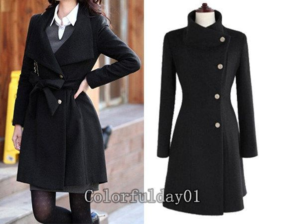 Creative Coat Jacket  Dress Wool Jacket Women Coat Grey Coat SXL Grey Coats