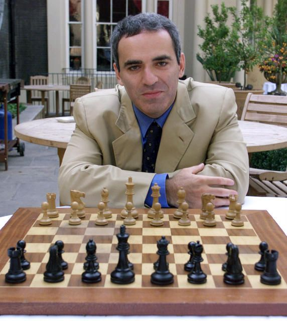 Garry Kasparov (b. 1963). Former world chess champion. writer, and political activist.