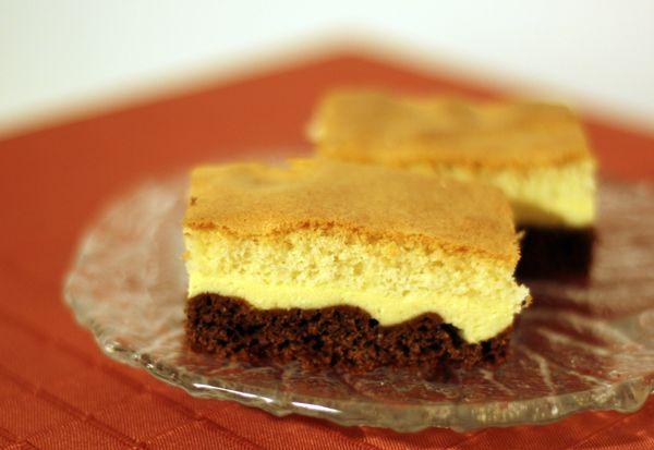 Tvarohový trojfarebný koláč