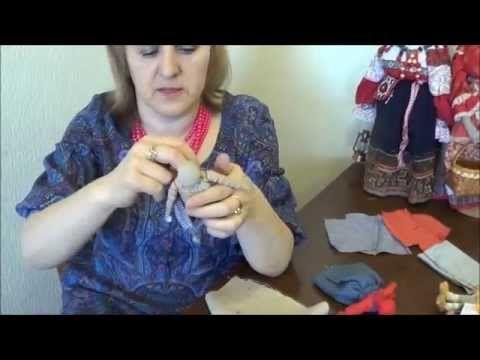 Изготовление куклы по старинному способу, из лоскутков ткани, Батецкого района Великого Новгорода. Ведёт урок Олонцева Ольга. 2015.