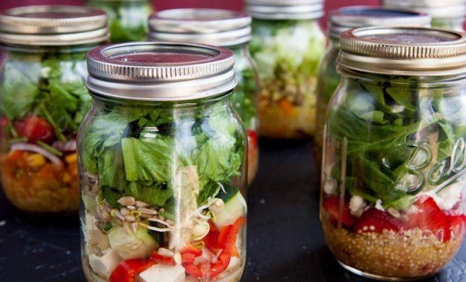 Salát ve sklenici: vždy po ruce a čerstvý