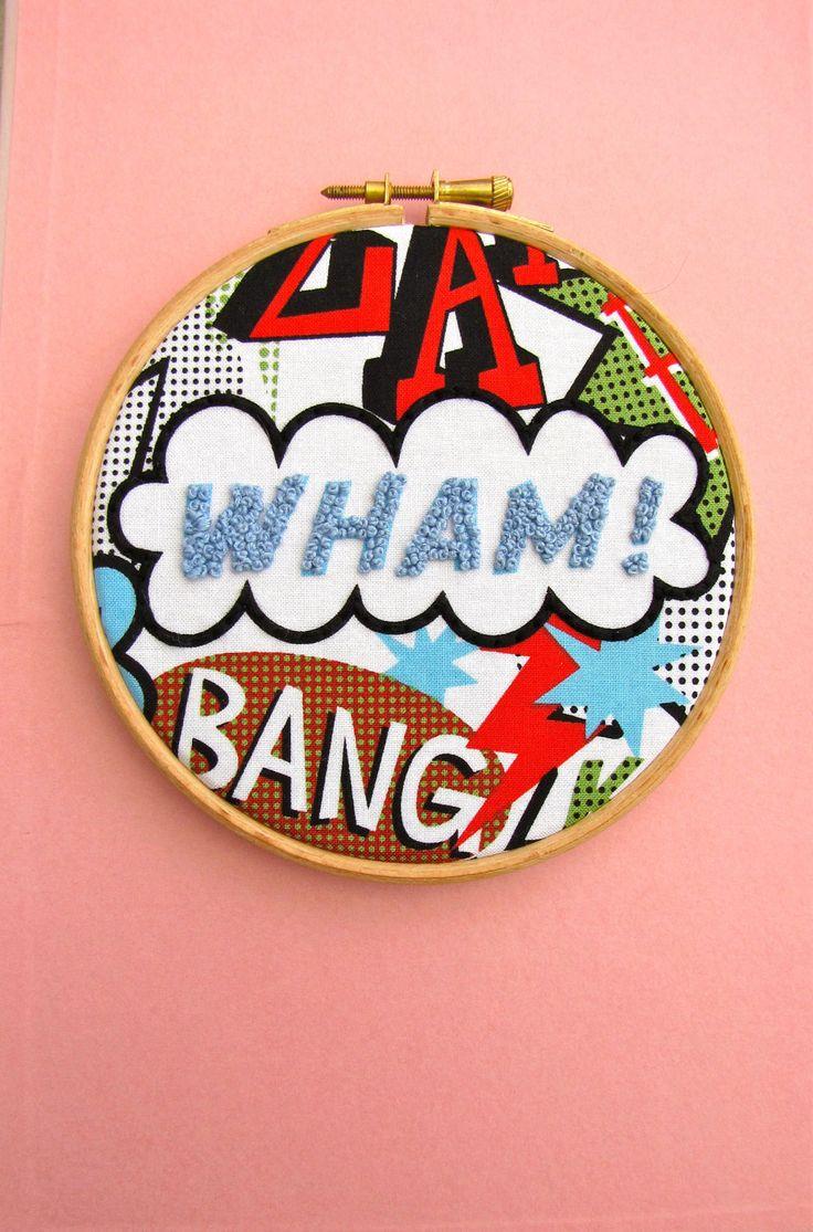WHAM - Embroidery Hoop Art