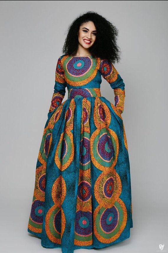 the ESE dress. African print dress